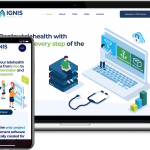 Ignis Health home page design