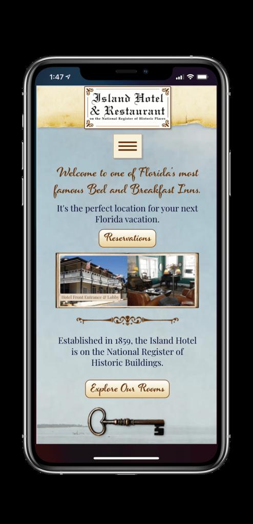 Island Hotel website