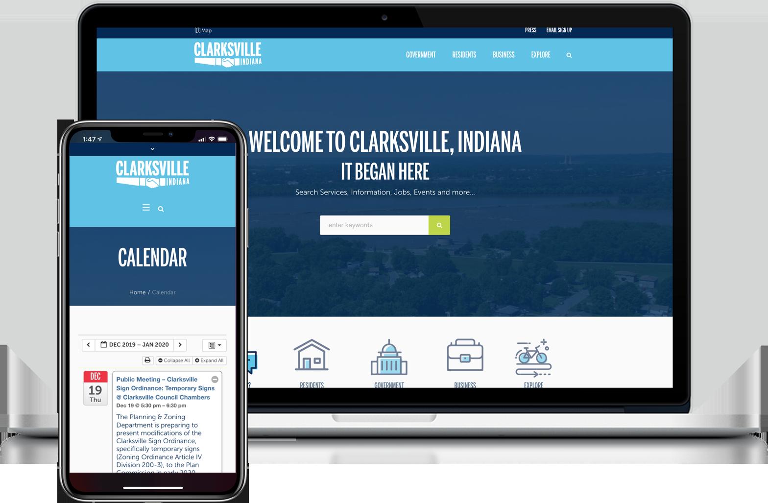 Town of Clarksville Website